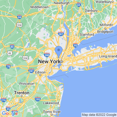 Map of truck driving jobs in Jersey City, New Jersey